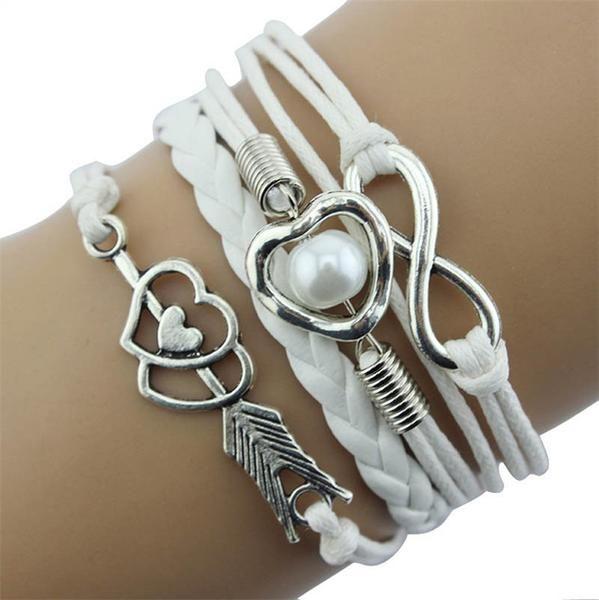 Bracelets multilayer Charm bracelet leather - Define Yourself Designs