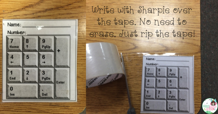 Elementary education ideas for classroom and homeschool teachers. Tape a  key pad to their desk