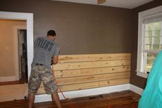 Making Shiplap 1 X 8 Board With Small Gap In Between Home Home Remodeling Home Diy