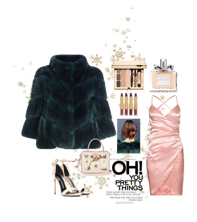 """Colored Furs"" by mirnag16 on Polyvore featuring Yves Salomon, Tom Ford, tarte, Christian Dior, Urban Outfitters and Dolce&Gabbana"