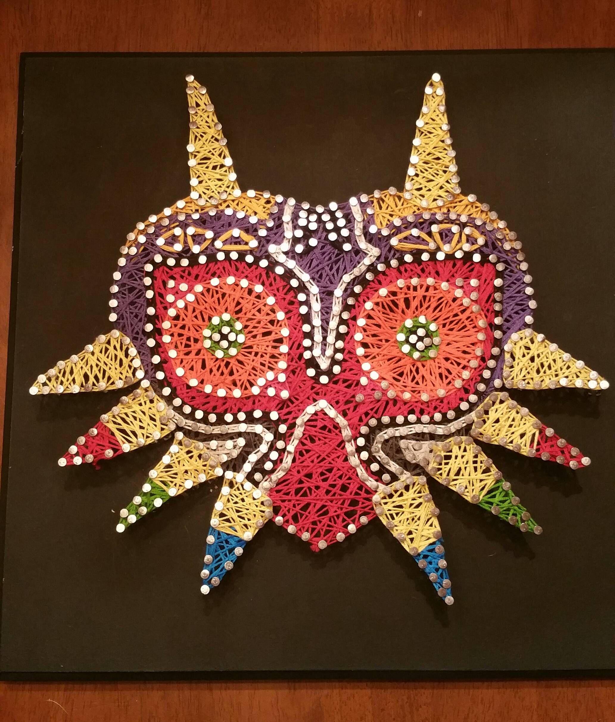 Majora's Mask String Art | Craft Tutorials | Pinterest | String ...