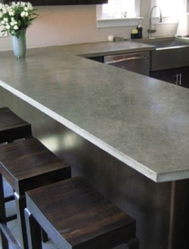 A Guide To Concrete Kitchen Countertops Remodeling 101: Concrete - Kitchen Countertops 101 - Bob Vila