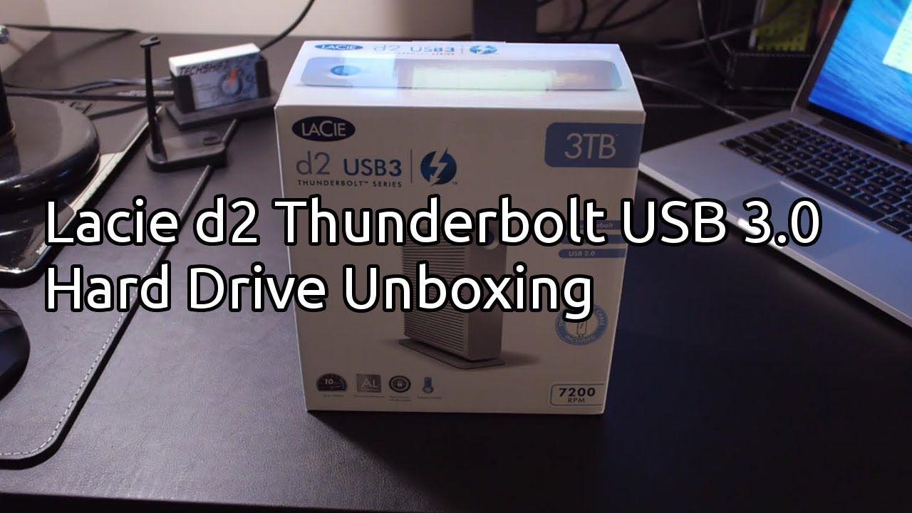 Lacie D2 Thunderbolt And Usb 3 0 Hard Drive Unboxing 3tb Usb Hard Drive Driving