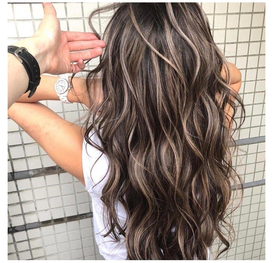 Pin On Cabelo Tendencia 2020 Bleach Blonde Highlights On Dark Hair Jul 9 2020 Luzes Loiras In 2020 Long Hair Styles Dark Hair With Highlights Hair Highlights