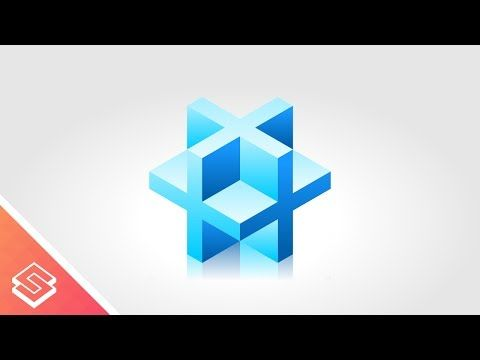 Inkscape Tutorial: 3D Cube made of Crosses - YouTube