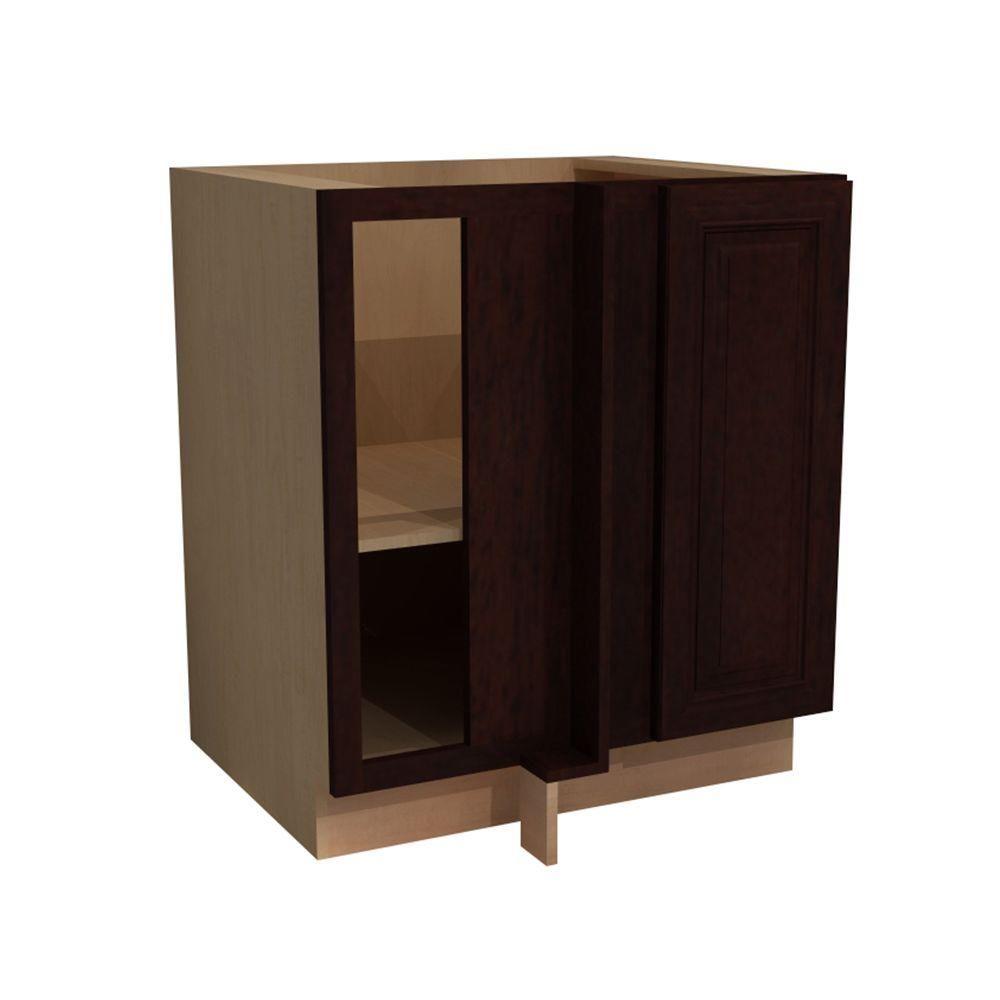 Corner base kitchen cabinet  Somerset Assembled xx in Single Door Hinge Left Base
