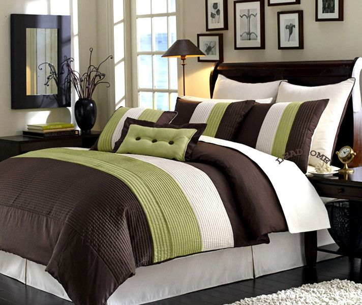 Green And Brown Bedroom Designs With Images Brown Comforter