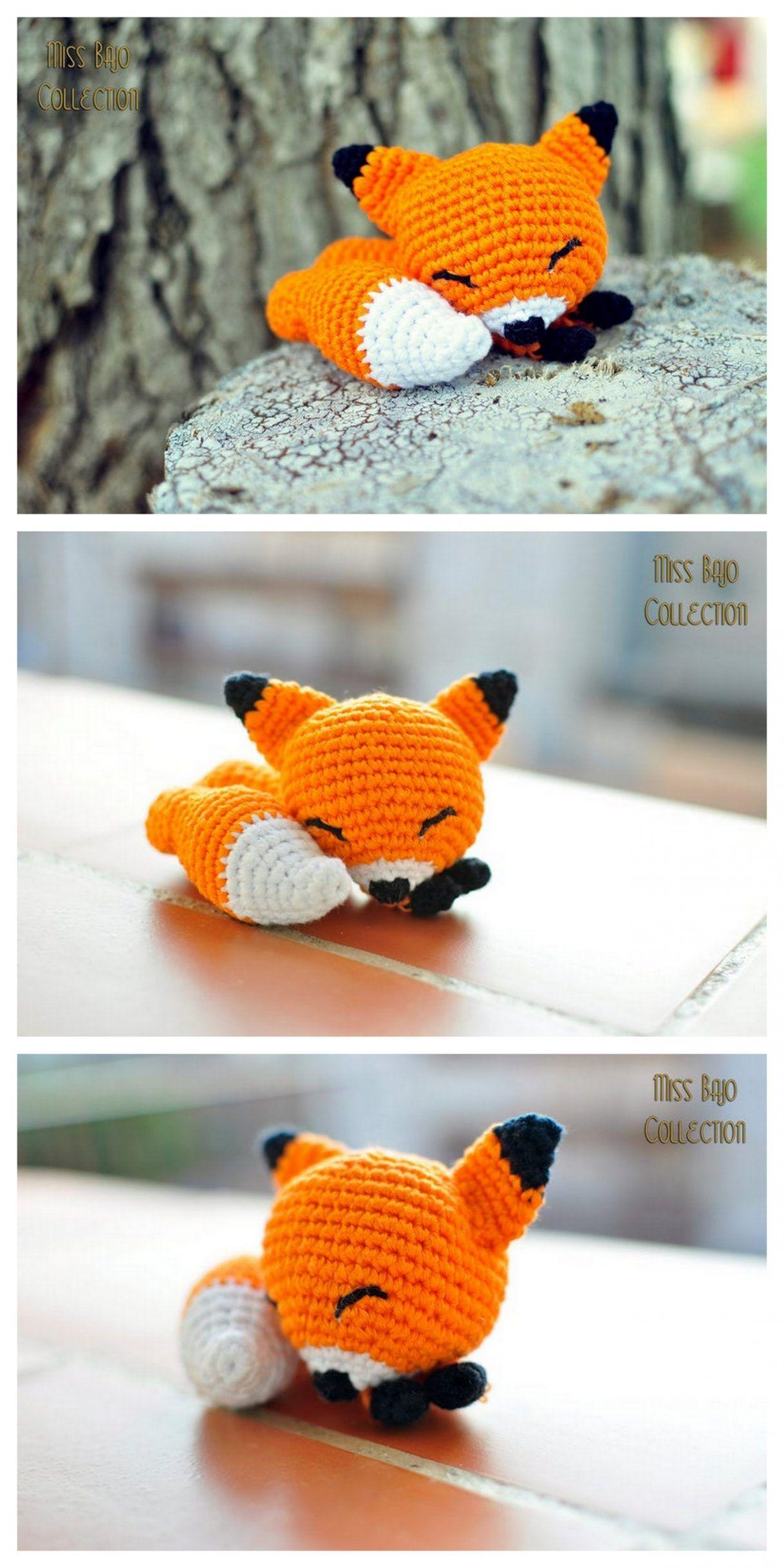 Plush amigurumi fox free crochet pattern – Free Amigurumi Patterns