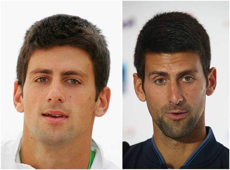 Novak Djokovic S Eyes Color Hazel And Hair Color Dark Brown Perfect Body Shape Dark Brown Hair Color Hair Color Dark