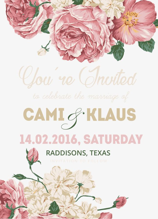Invitations Png Template Material Png Free Download Svadebnye