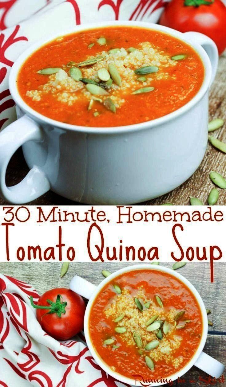 Tomato Quinoa Soup from Running in a Skirt -  Healthy 30 Minute Tomato Quinoa Soup recipe – vegan