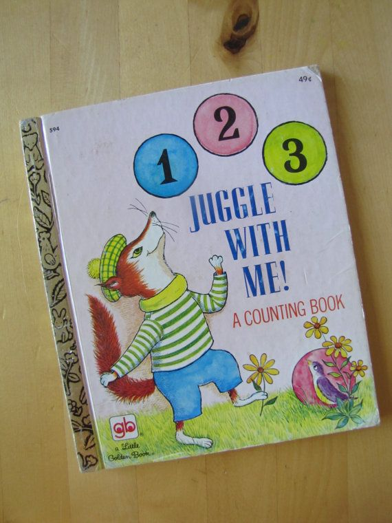 A Little Golden Book  123 Juggle With Me by TheBigBlueMarble, $4.25