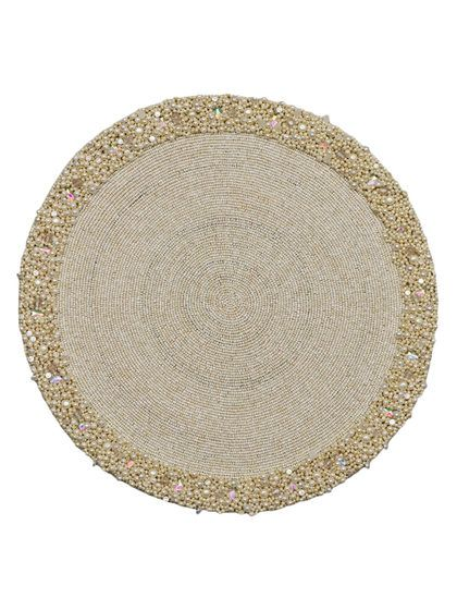 Pearl Round Beaded Placemats Set Of 4 By Nk Tableware At Gilt Placemats Mermaid Decor Round Beads