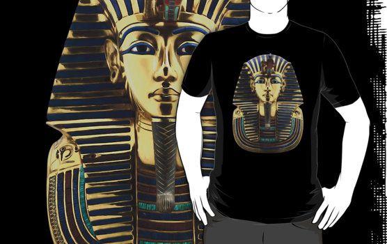 Tutankhamun - King Tut by hypetees  ra, egyptian, egypt, egyptian mythology, egypt mythology, egypt gods, egyptian gods, ra horus, horus, tomb, bastet, hathor, anubis, egyptian god, egypt god, egyt, egipt, egept, egpt, mythology, sunshine gods, god, king tut, pyramid, pyramids, cairo, giza, pharaoh, pharaohs, egyptian designs, i love egypt, tutankhamun, scenic, gold