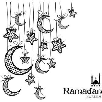 Free Vector Happy Ramadan Kareem Moon Stars Background Cgvector