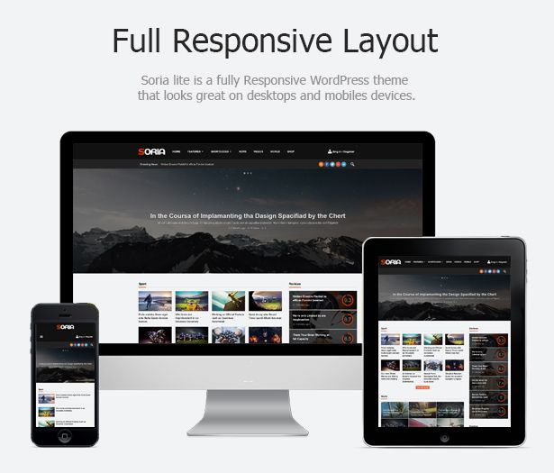 Soria Is A Beautifull Feature-rich WordPress Magazine