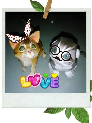Cats Papercraft From Canon Edited My Craft Crafts Paper Crafts