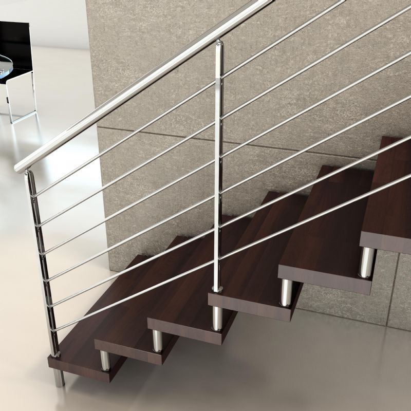 Pasamanos para escaleras un detalle necesario for Como hacer una escalera de hierro para interior