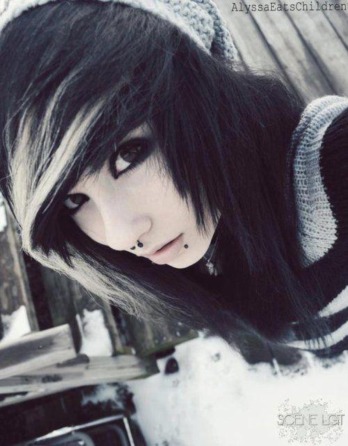 Black And White Emo Hair Black And White Hair Hair Hair