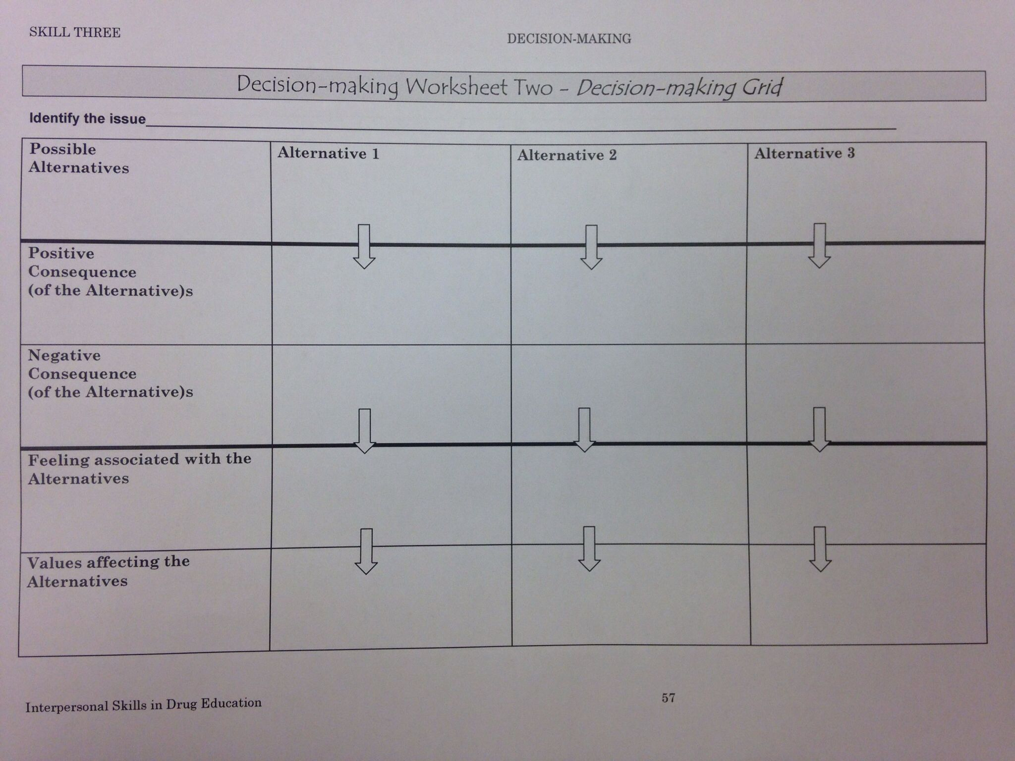 Decision Worksheet