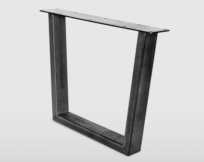Metal Table Legs Set Of 4 Raw Steel Fold Leg Mid Century