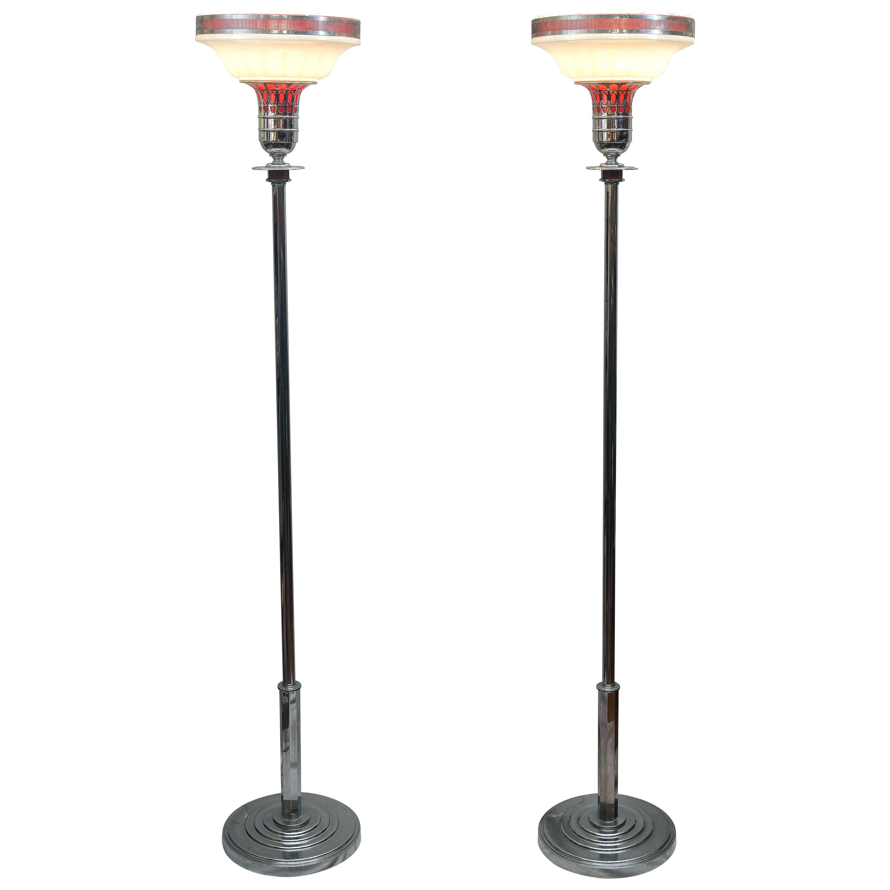 Led Torchiere Floor Lamp With Reading Light Lamp Torchiere