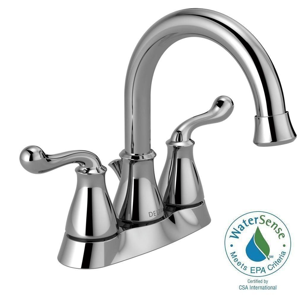 Delta Southlake 4 In Centerset 2 Handle Bathroom Faucet In Chrome 25755lf The Home Depot Bathroom Faucets Faucet Southlake [ 1000 x 1000 Pixel ]