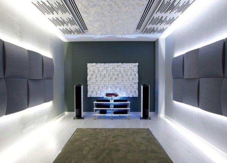Panneau acoustique décoratif en 30 designs mur et plafond Acoustic