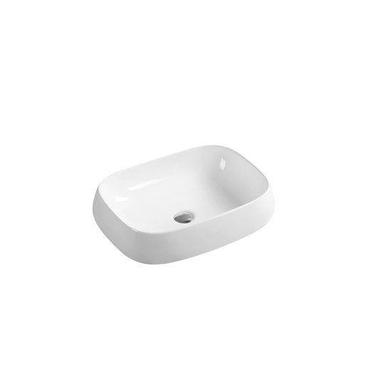 Vasque A Poser Ceramique L 56 X P 42 Cm Blanc Carole Vasque A Poser Vasque Et Leroymerlin Salle De Bain