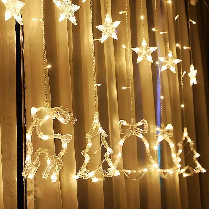 low priced 9e4bf d7961 JUNJUE Brand 1PC LED Star String Lights Warm White Fairy ...