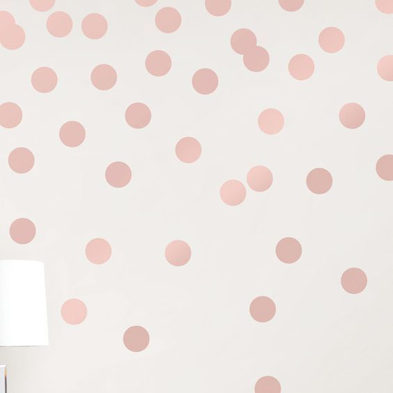 Dots Metallic Wall Sticker In 2019 Girls Bedroom Wallpaper
