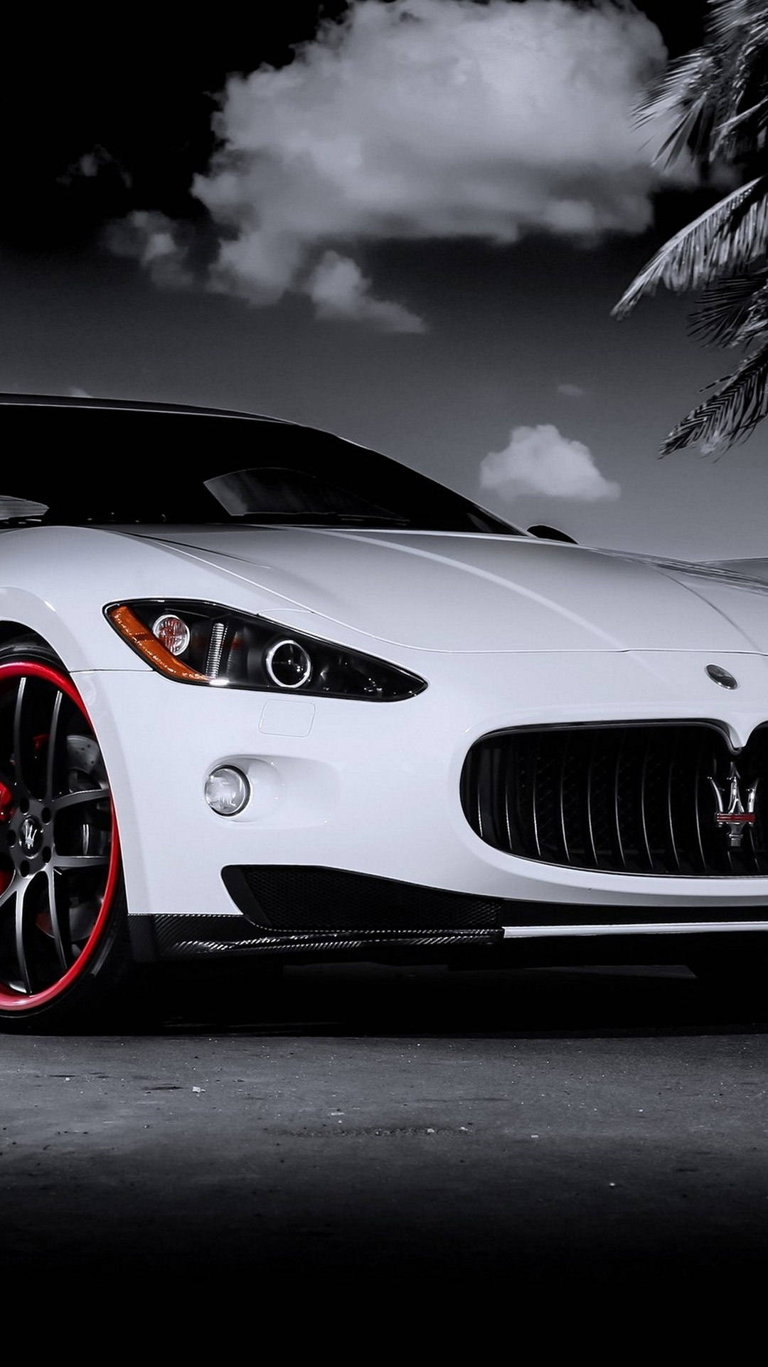 Delicieux Maserati Granturismo White Red Android Wallpaper.png (1080×