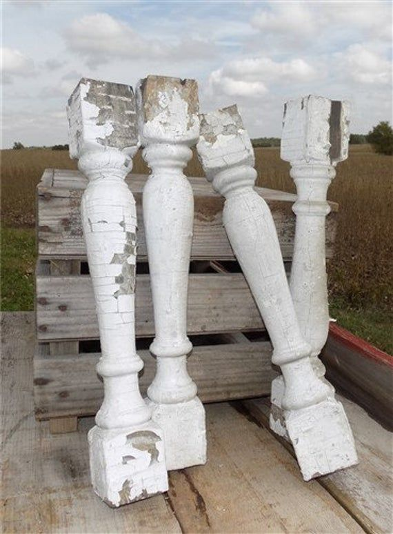 Best 4 Balusters White Wood Architectural Salvage Spindles 640 x 480