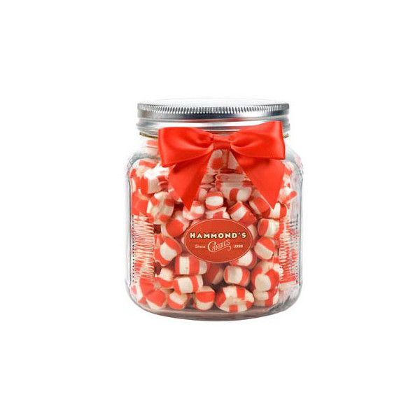 Peppermint Puffs Jar (105 MXN) ❤ liked on Polyvore featuring home, kitchen & dining, food storage containers, food and food jar
