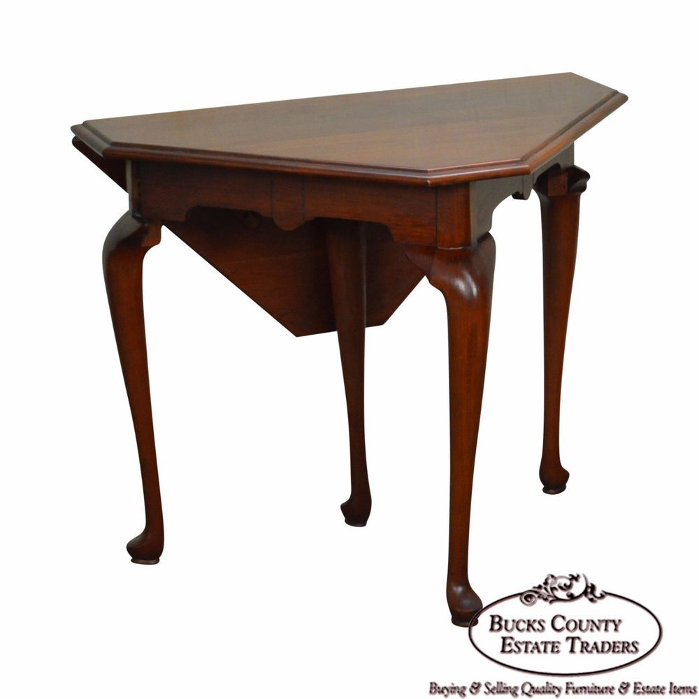 Henkel Harris Solid Cherry Handkerchief Table | Handkerchiefs ...