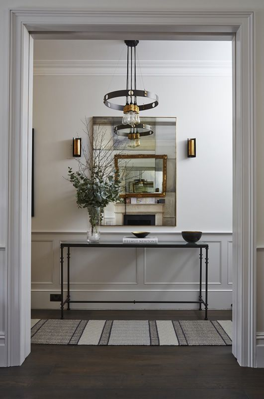 Entrance Room, Side Table, Mirror, Wall Lighting, Rug, Townhouse, Chelsea