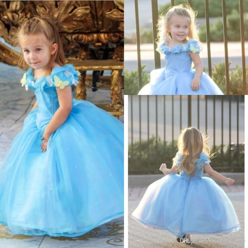 Lovely Cap Sleeve Girl\'s Pageant Dresses Deluxe Cinderella Dress ...