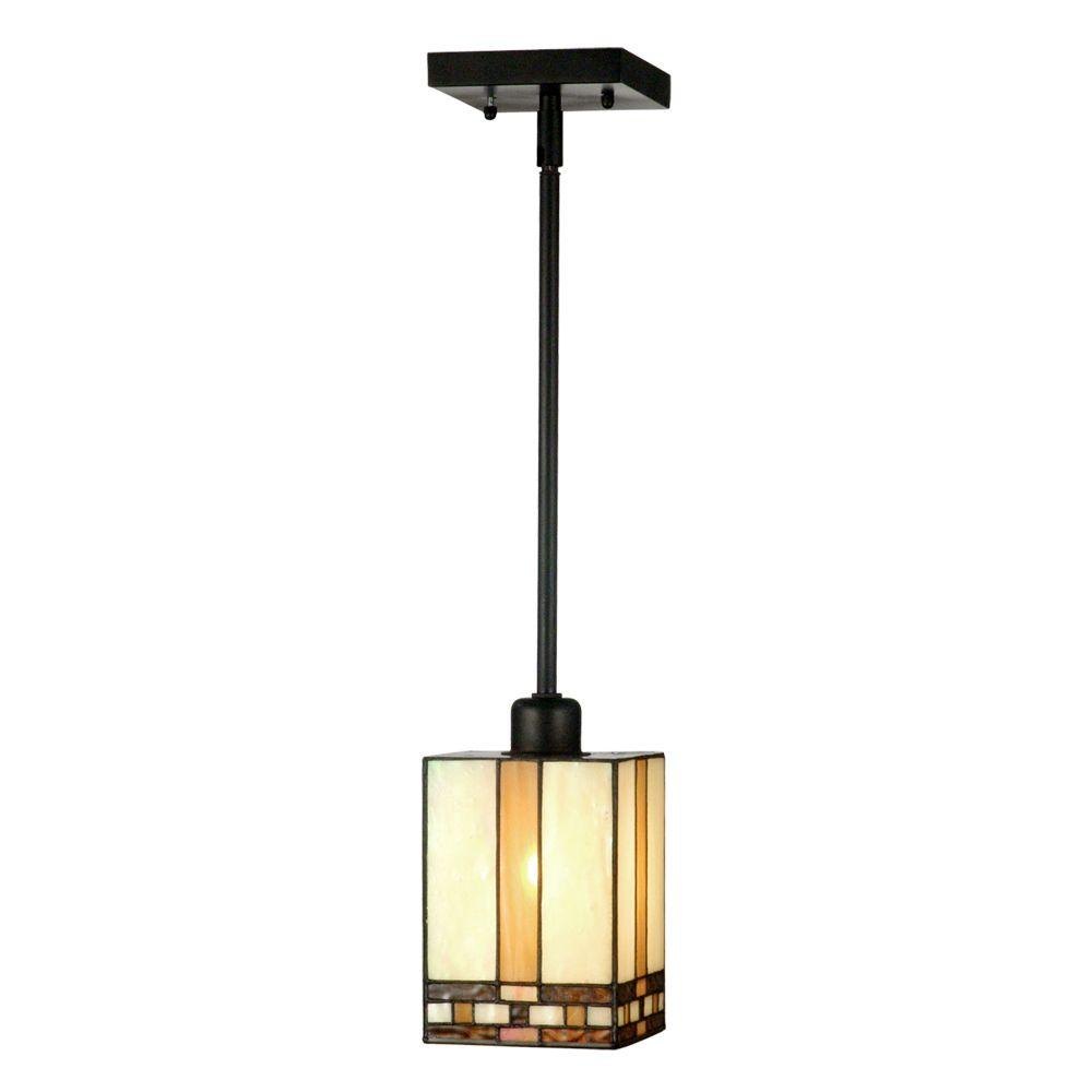 Springdale Lighting Mission 1 Light Antique Bronze Hanging Mini Pendant Lamp Sth11006 The Home Depot Pendant Lamp Pendant Lighting Pendant Lights Uk