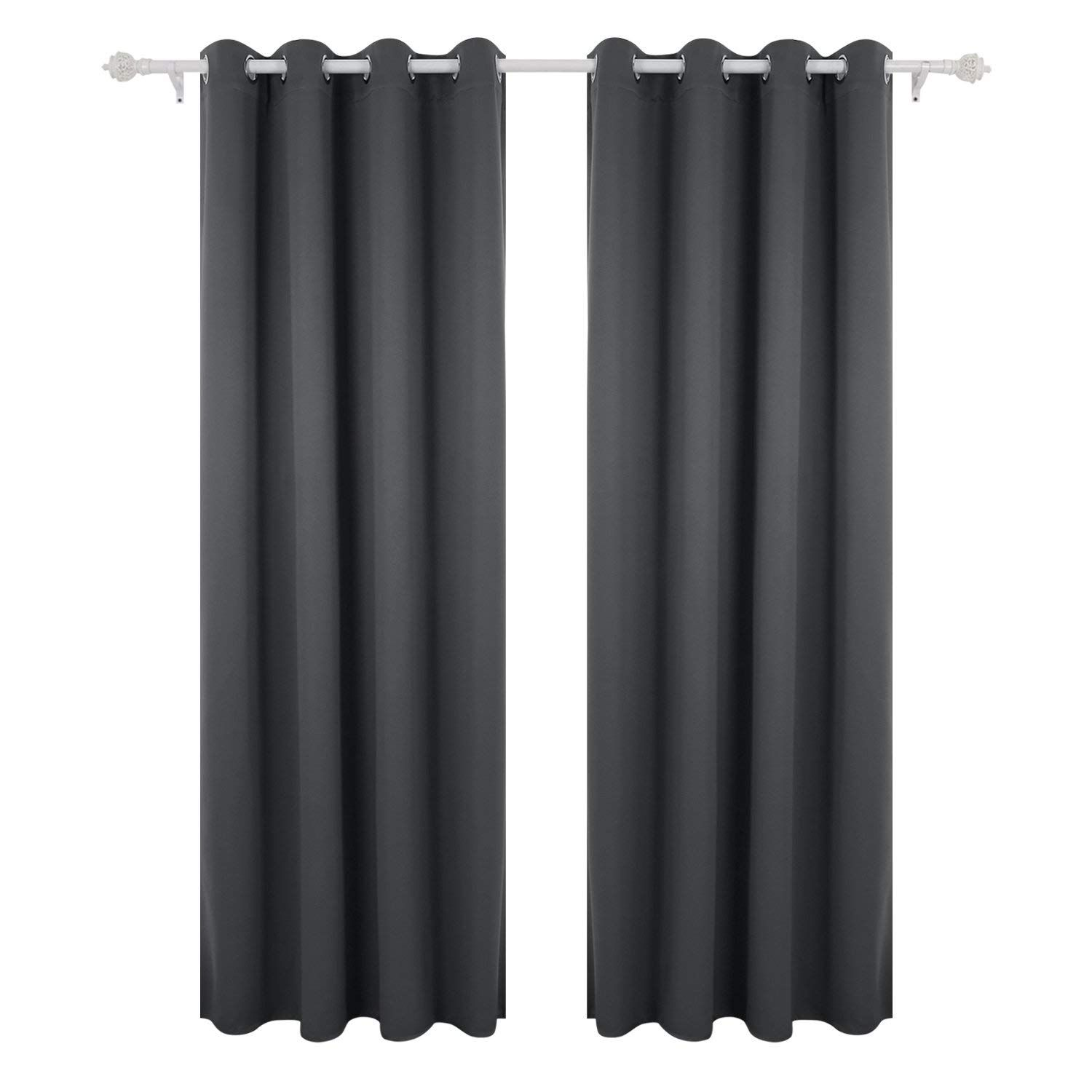 Deconovo Super Soft Thermal Insulated Eyelet Blackout Curtains For Bedroom Wi Insulated Blackout Curtains Thermal Insulated Blackout Curtains Blackout Curtains