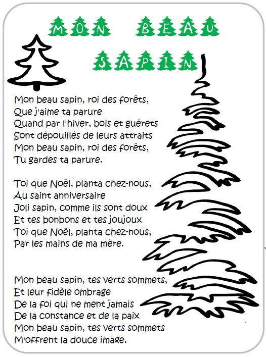Les Paroles De 3 Chants De Noël Illustrés Pour La Maternelle Et Le