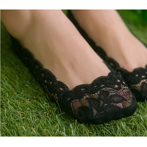 جوارب دانتيل قصيرة ربع Stockings Lace