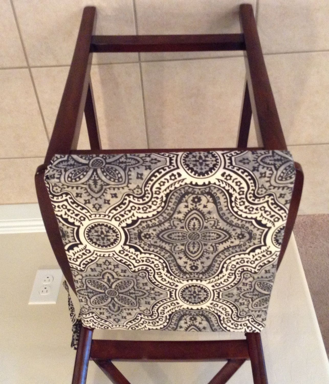 Rustic Print Seat Cushion Cover Kitchen Chair Pad Neutral Beiges