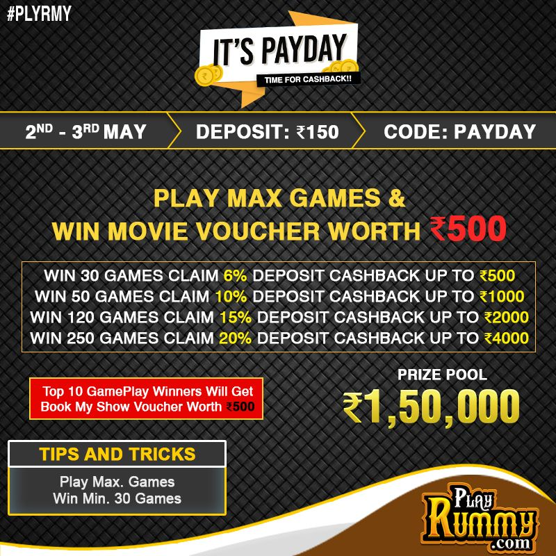 Deposit and Win to Claim Cashback on your deposit Amount