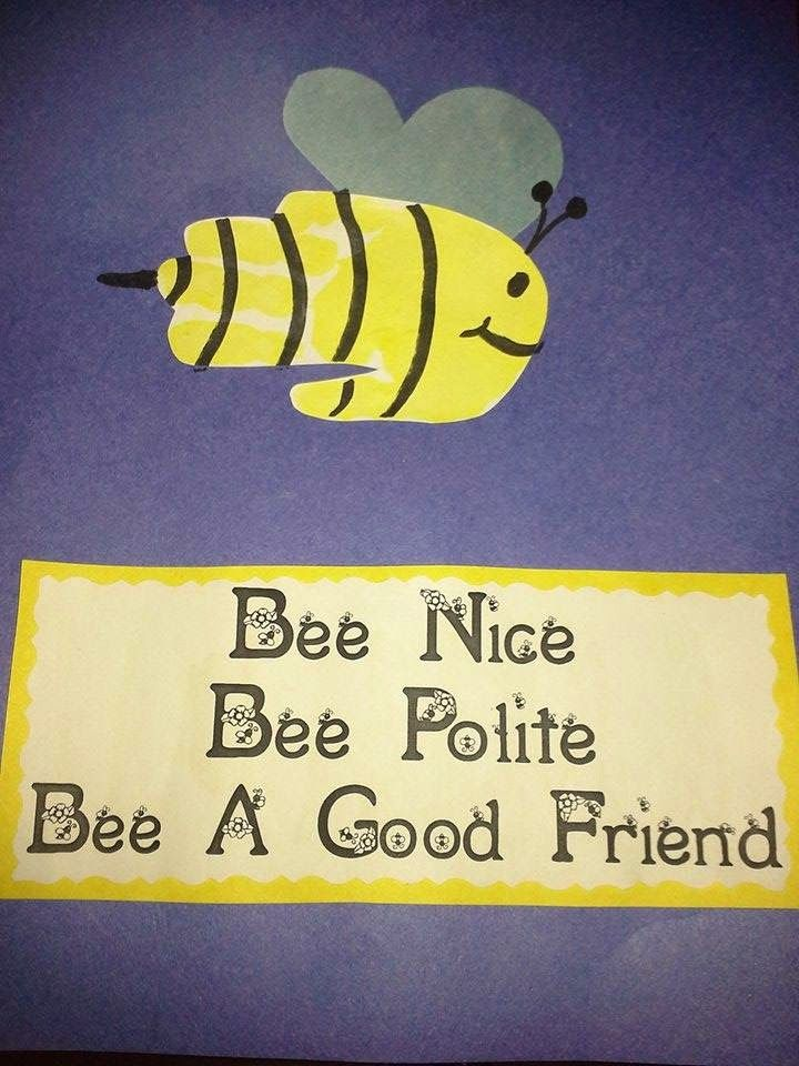 manners theme preschool the stuff we do handprint bumble bees sherry and 808
