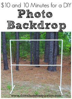 $10 and 10 Minutes for a DIY Photo Backdrop - Down Home Inspiration #pvcpipebackdrop