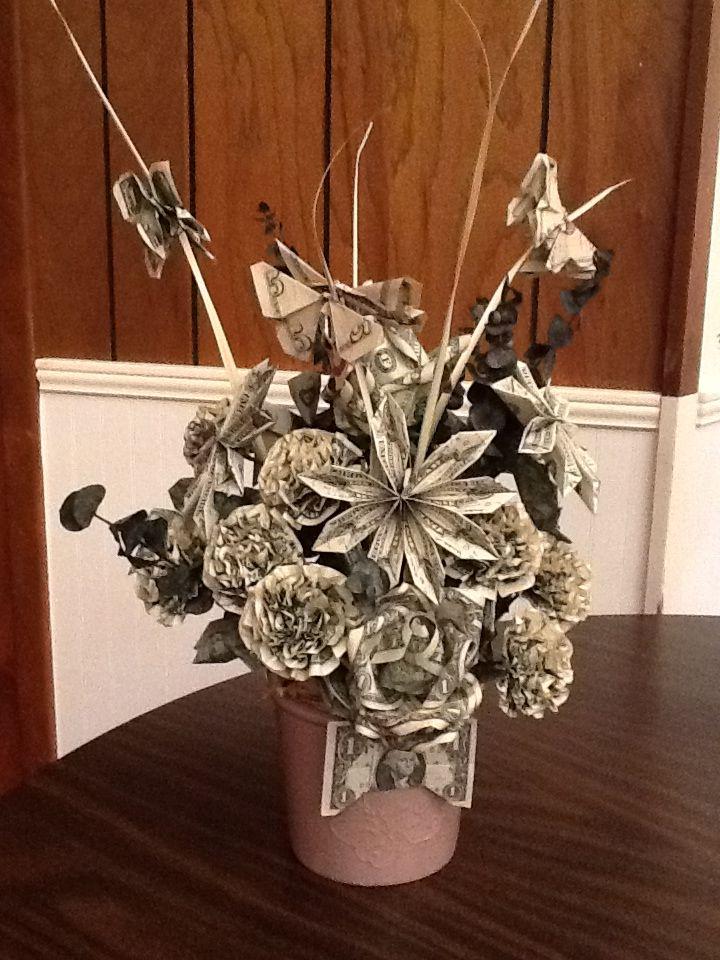 Beautiful Money Bouquet made by a fellow choir member as a farewell ...