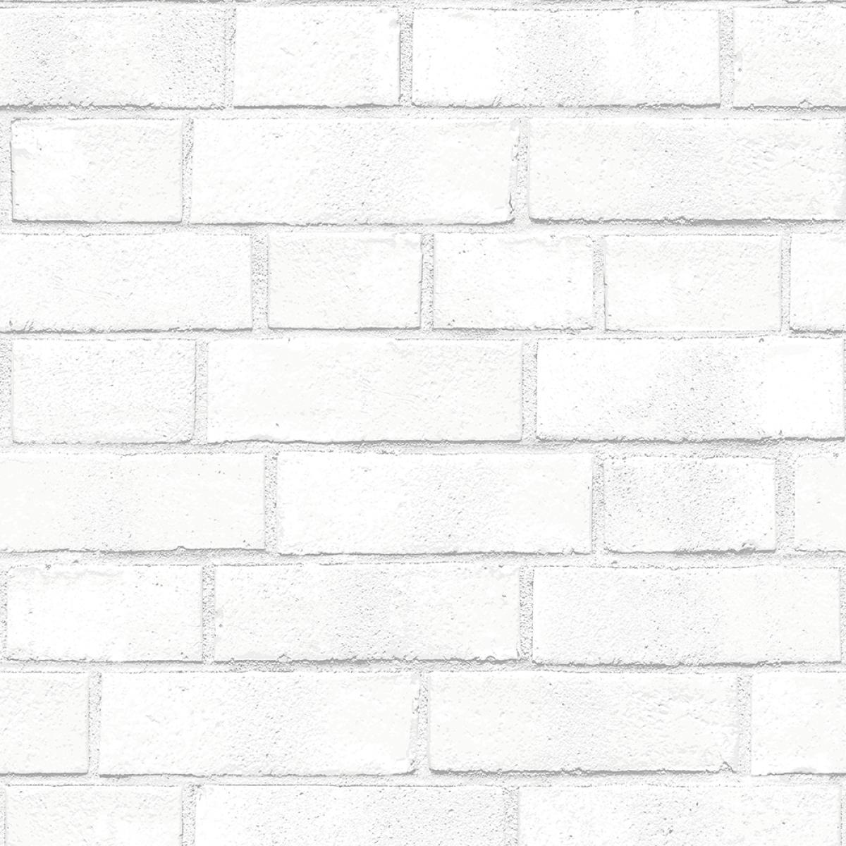 Removable wallpaper White textured wallpaper, Brick