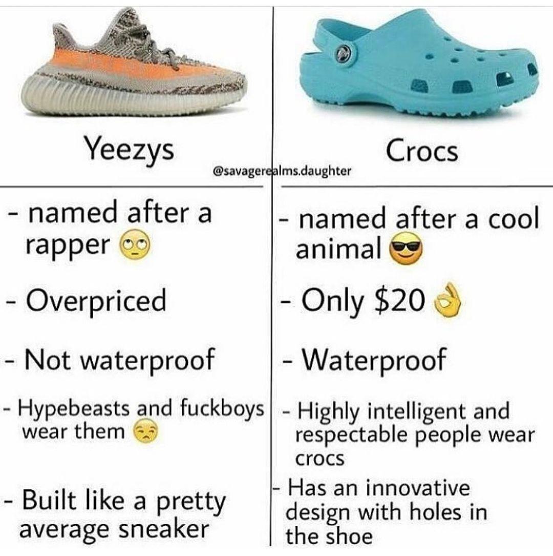 Pin by Drangus on Soft boiled memes Crocs funny, Crocs