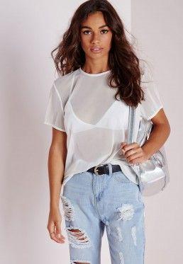 90a8a9d34525ca Mesh T Shirt White
