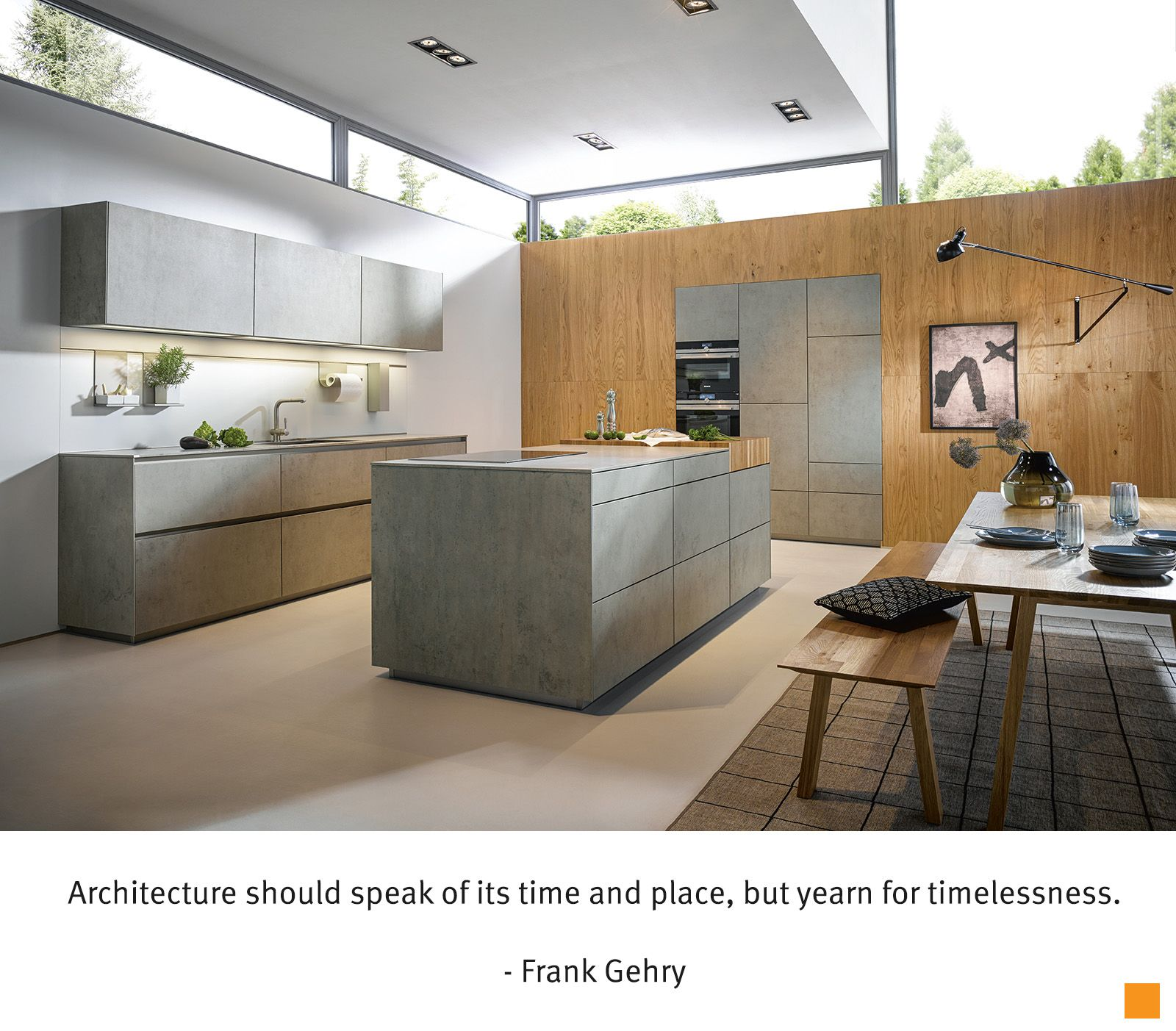 Next125 Kitchen Model Nx950 With Ceramic Fronts In Concrete Grey Effect Partnered With War German Kitchen Design Kitchen Design Companies Kitchen Remodel Plans